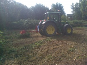 Tractor & Flail Mower (veg & agric services)